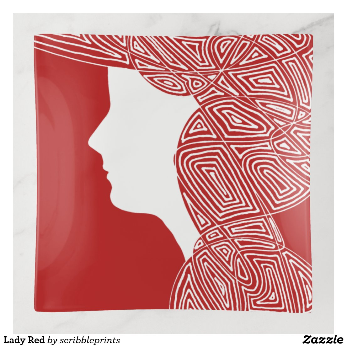 Lady Red Trinket Trays