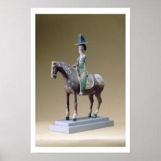 Lady rider, Astana, 7th century (stucco) Poster