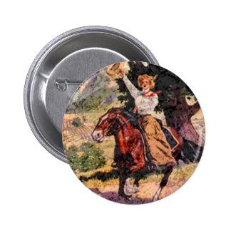 Lady rider 2 inch round button