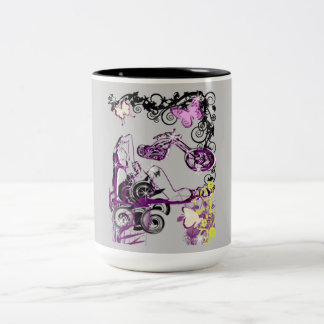 LADY RIDER Two-Tone COFFEE MUG