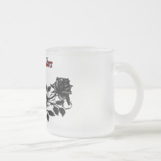 Lady Riders MC Frosted Glass Coffee Mug