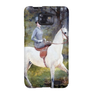 Lady Riding White Horse Painting Samsung Galaxy SII Cases