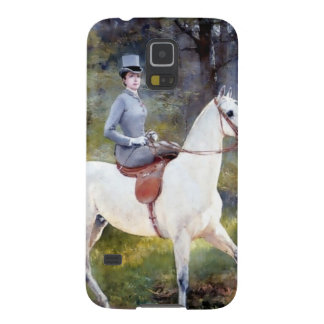 Lady Riding White Horse Painting Galaxy Nexus Cases