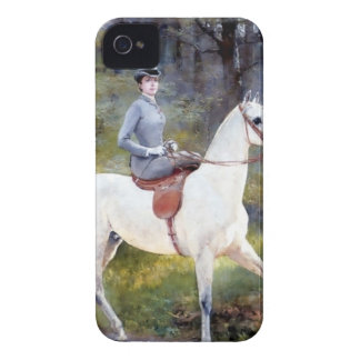 Lady Riding White Horse Painting Case-Mate iPhone 4 Case