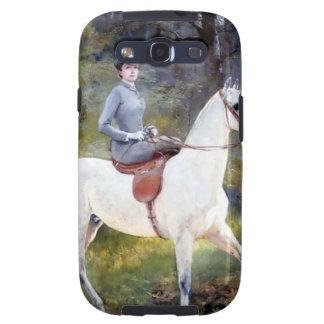Lady Riding White Horse Painting Galaxy S3 Case