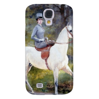 Lady Riding White Horse Painting HTC Vivid Cover