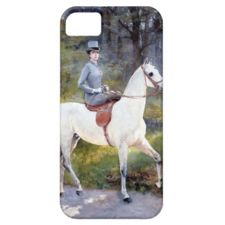 Lady Riding White Horse Painting iPhone 5/5S Cover