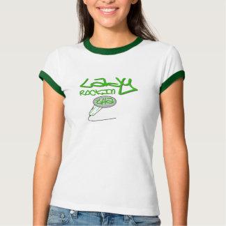 Lady Rocking tha Mic - Green Ringer Shirt