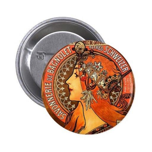 Lady Romantic Pin Redondo 5 Cm