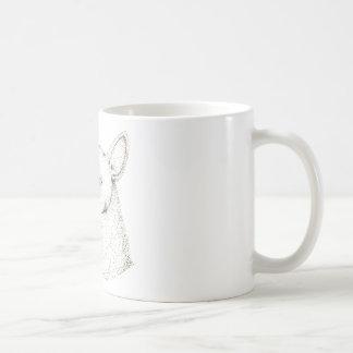 Lady RudolphInk pointillism digitally manipulated. Coffee Mug