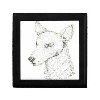 Lady RudolphInk pointillism digitally manipulated. Keepsake Box