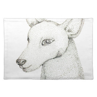 Lady RudolphInk pointillism digitally manipulated. Placemat