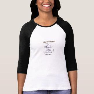 Lady's 3/4 sleeve Golf shirt, black & white Shirt