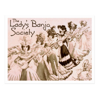 Lady s Banjo Society Postcard