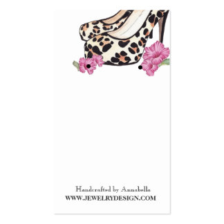 Lady s Jaguar Stiletto Hibiscus Earring Holder Business Card Template