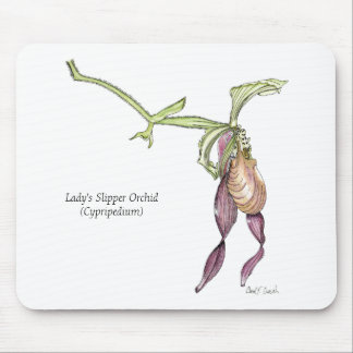 Lady s Slipper Orchid Mousepad