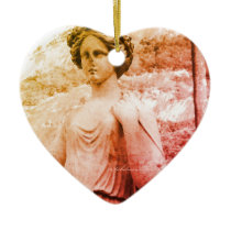 Lady Sculpture Ceramic Ornament