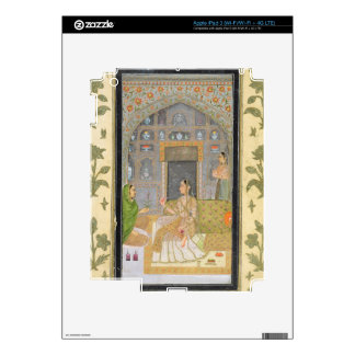 Lady seated in a Pavilion with attendants, from th iPad 3 Decals