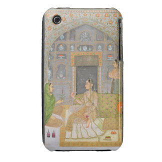 Lady seated in a Pavilion with attendants, from th iPhone 3 Cover