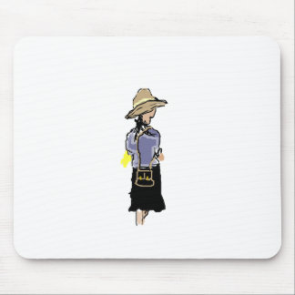 Lady Shopping Mouse Pad