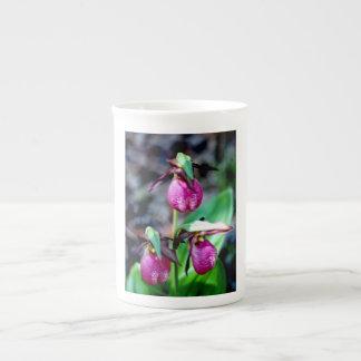 Lady Slipper I Pink Green Garden Delight Bone China Mug