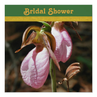 Lady Slipper Orchid Bridal Shower Invitation