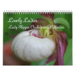 Lady Slipper Orchid Flowers 2014 Calendar