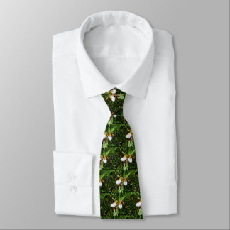 Lady Slipper Orchid Men's Tie