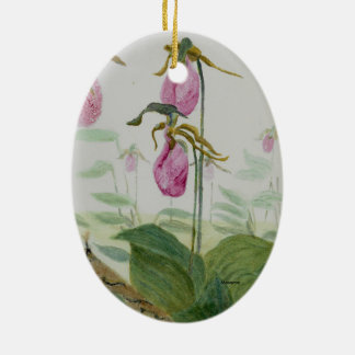 Lady Slippers Ceramic Ornament