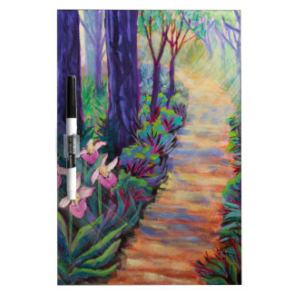 Lady Slippers on the Path Dry-Erase Board