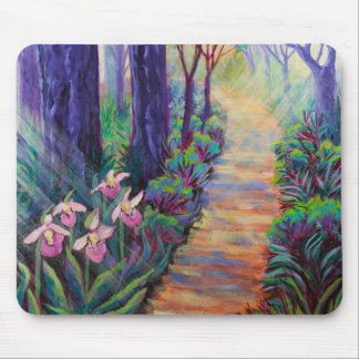 Lady Slippers on the Path Mouse Pad