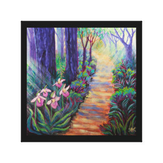 Lady Slippers on the Path Stretched Canvas Prints