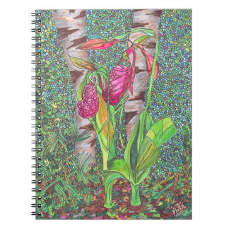 Lady Slippers Spiral Note Books