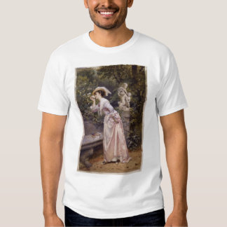 Lady Smelling Roses T-shirt