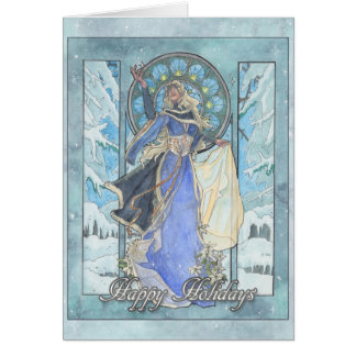 Lady Snowflake Card
