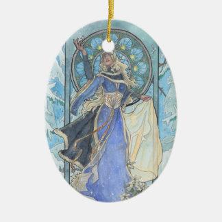 Lady Snowflake Ornament