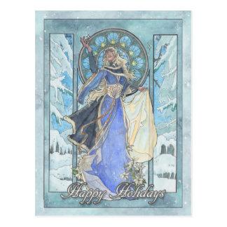 Lady Snowflake Postcard