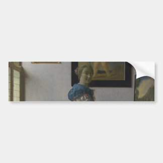 Lady Standing at a Virginal by Johannes Vermeer Bumper Sticker
