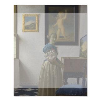 Lady Standing at a Virginal by Johannes Vermeer Custom Flyer