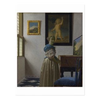 Lady Standing at a Virginal by Johannes Vermeer Postcards