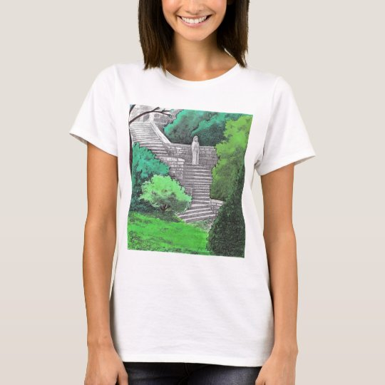 Lady statue in the garden of an Italian park T-Shirt