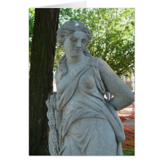 Lady Statue in the Park in Washington, Iowa Card