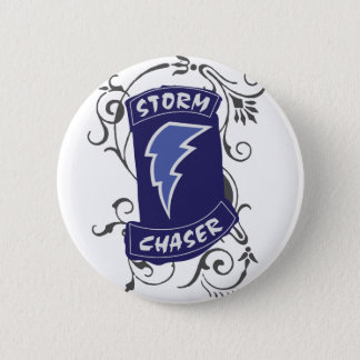 Lady Storm Chaser Pinback Button
