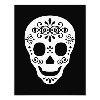 Lady Sugar Skull by Leslie Peppers Photographic Print