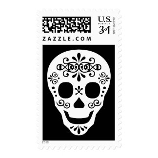 Lady Sugar Skull by Leslie Peppers Postage