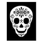 Lady Sugar Skull by Leslie Peppers Postcards