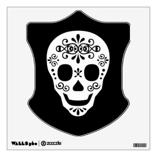 Lady Sugar Skull by Leslie Peppers Wall Decal