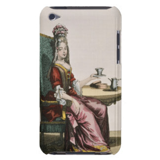 Lady Taking Coffee, fashion plate, c.1695 (engravi Case-Mate iPod Touch Case