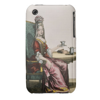 Lady Taking Coffee, fashion plate, c.1695 (engravi iPhone 3 Cover