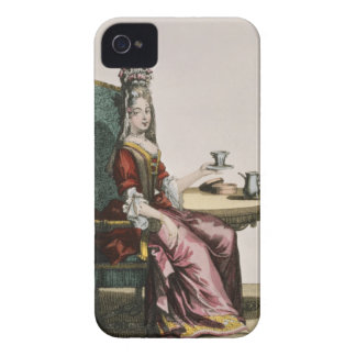Lady Taking Coffee, fashion plate, c.1695 (engravi iPhone 4 Case-Mate Case